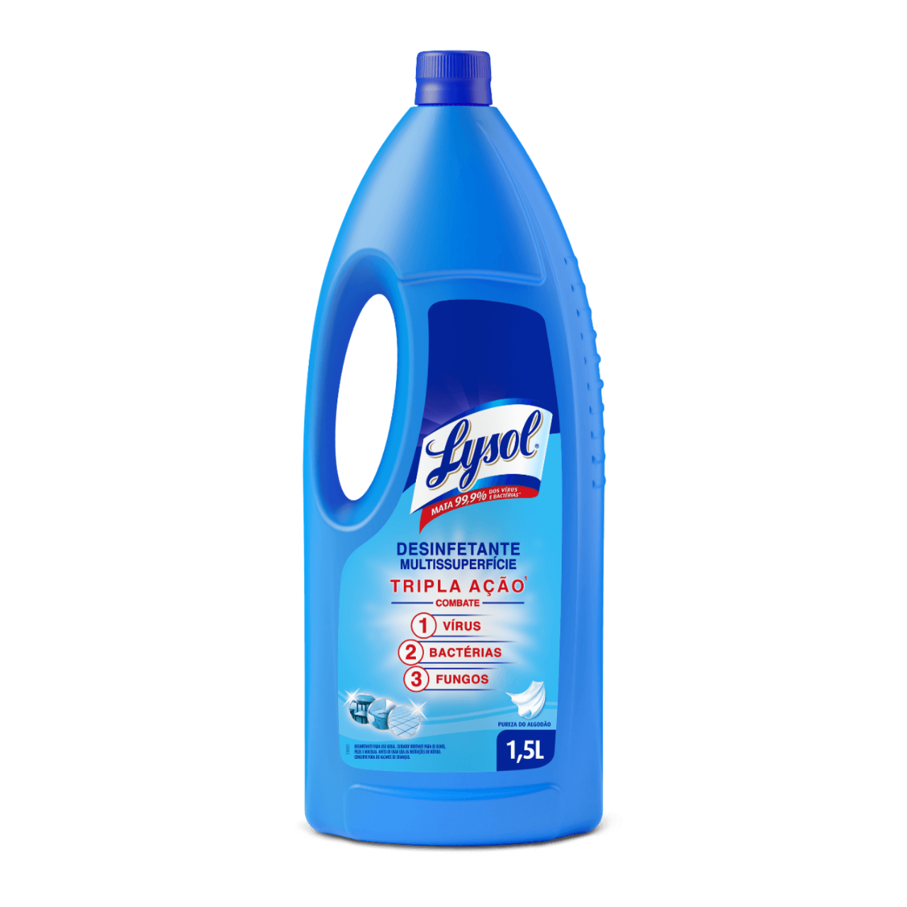 Lysol Desinfetante Multissuperfície Pureza do Algodão 1.5L